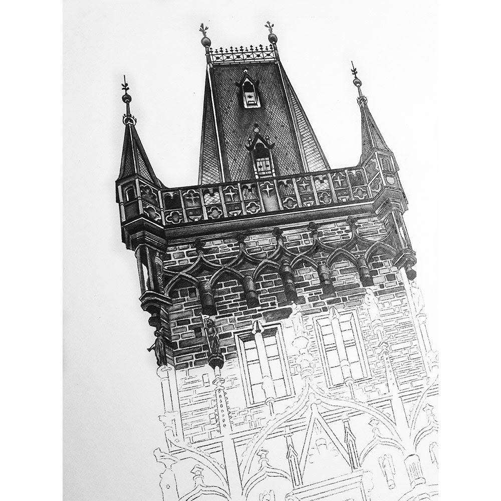 08-Powder-Tower-Prague-Czech-Republic-WIP-Elizabeth-Mishanina-Architecture-Immaculate-Drawing-Technique-www-designstack-co