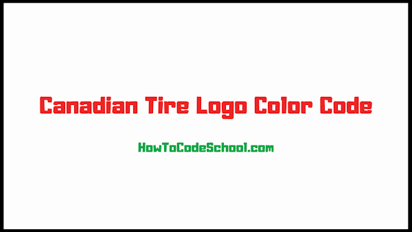 Canadian Tire Logo Color Code