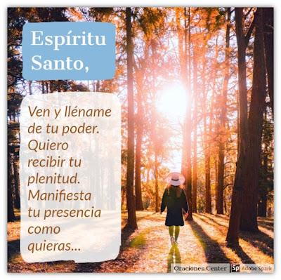 Oración al Espíritu Santo de Dios