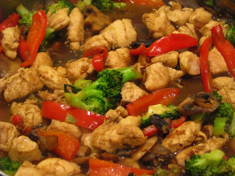 Chicken And Broccoli Stir Fry With Noodles