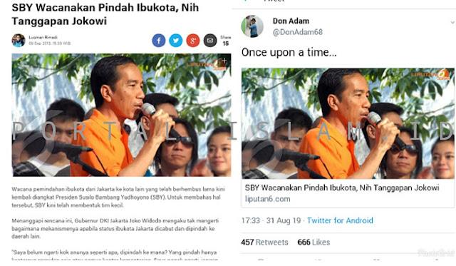 Jokowi MENOLAK Pemindahan Ibu Kota
