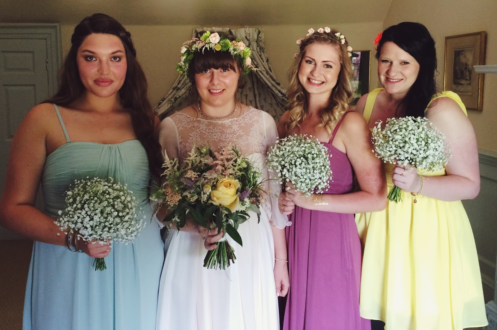 Bridesmaids style - Combe Manor wedding