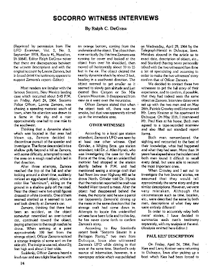 Socorro Witness Interviews (Pg 14 of 14 & 15) – The MUFON UFO Journal October, 1978