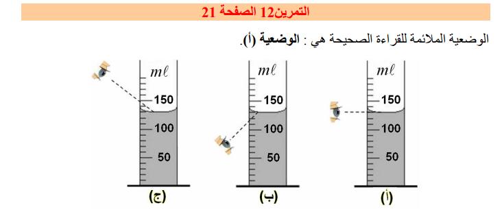 حل تمرين 12 صفحة 21 فيزياء للسنة الأولى متوسط الجيل الثاني