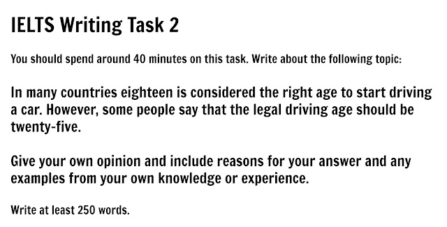 Essay 18 is considered the right age to start driving