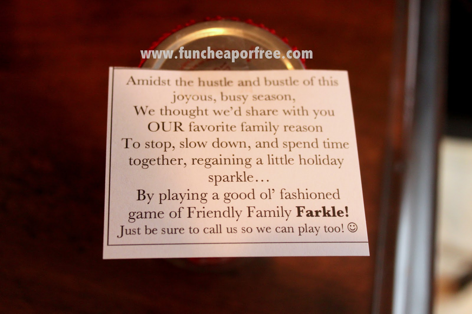 photo relating to Farkle Instructions Printable named Neighbor Reward Suggestions + Do-it-yourself Push Farkle Activity - Pleasurable Economical or Cost-free
