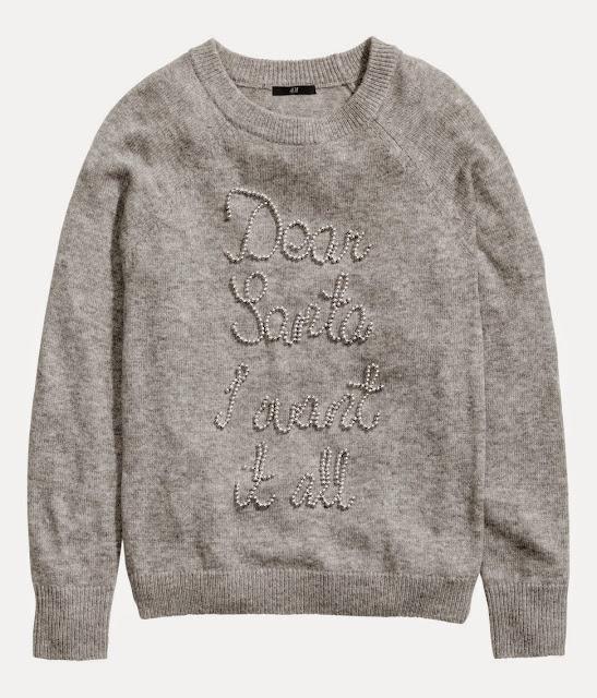 grey santa jumper