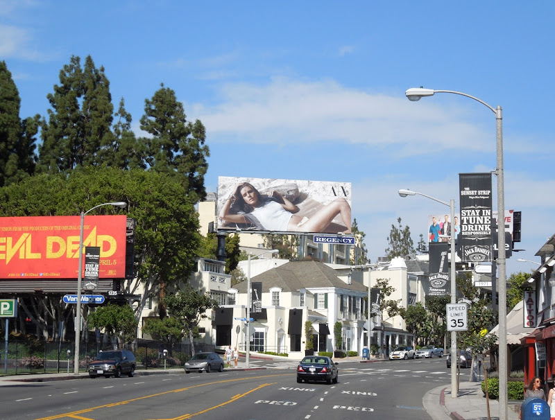 Armani Exchange sunset strip billboard