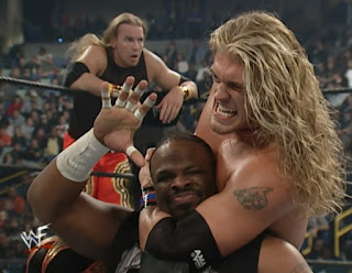 WWE / WWF Royal Rumble 2001 - Edge and Christian battled The Dudley Boyz