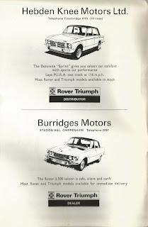 Hebden Knee Motors Ltd, advert from 26 May 1974