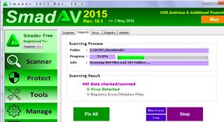 طريقة استخدام برنامج SmadAV لإزالة فيروس الشورت كت من الفلاشة بالكامل مجاناً