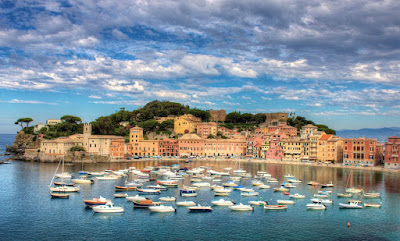 Sestri Levante, Liguria. Bay of Silence, the old town