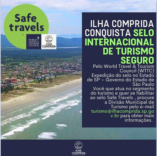 Ilha conquista selo internacional Safe Travels - viagens seguras na área do turismo