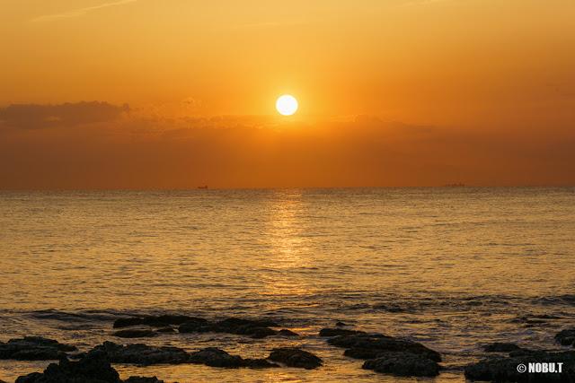 布良海岸(館山市)からの夕日