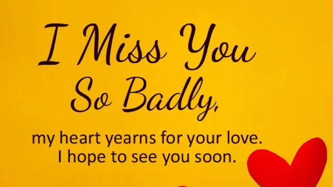 Share 40+ I Miss You Messages (SMS) and Quotes