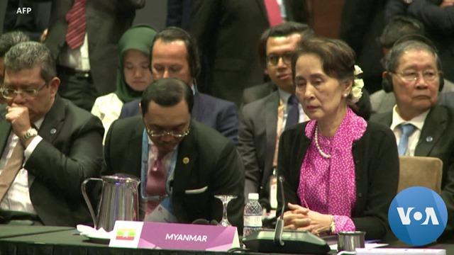 """Di ICJ Den Haag, Aung San Suu Kyi Diserbu Seruan """"Stop Tindakan Kebiadaban pada Rohingya!"""""""