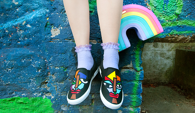BucketFeet, colourful sneakers, artist designed footwear