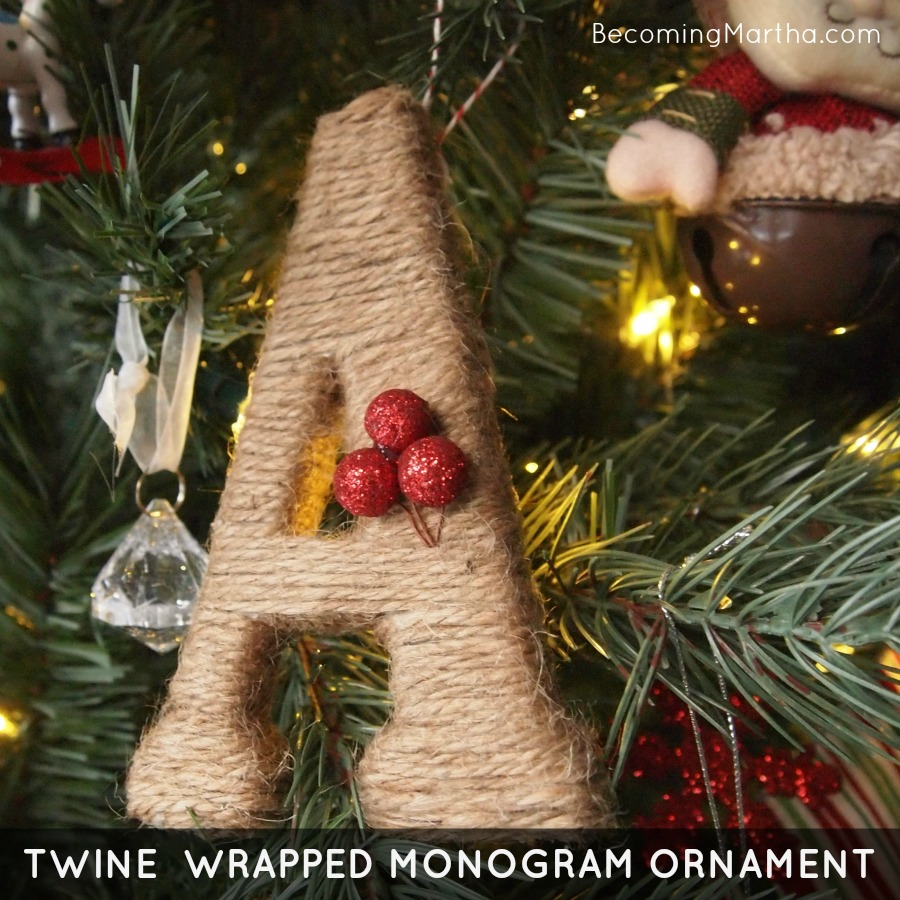 Twine Wrapped Monogram Ornament {Tutorial} - The Simply