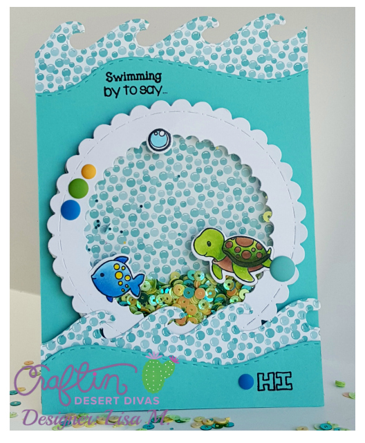 Under The Sea Shaker Card created by Lisa In The Crafting Craft