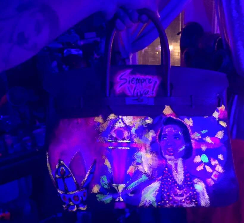 a649e9eda0a0 Custom Hermes Birkin bag (glow in the dark   black light reactive ...