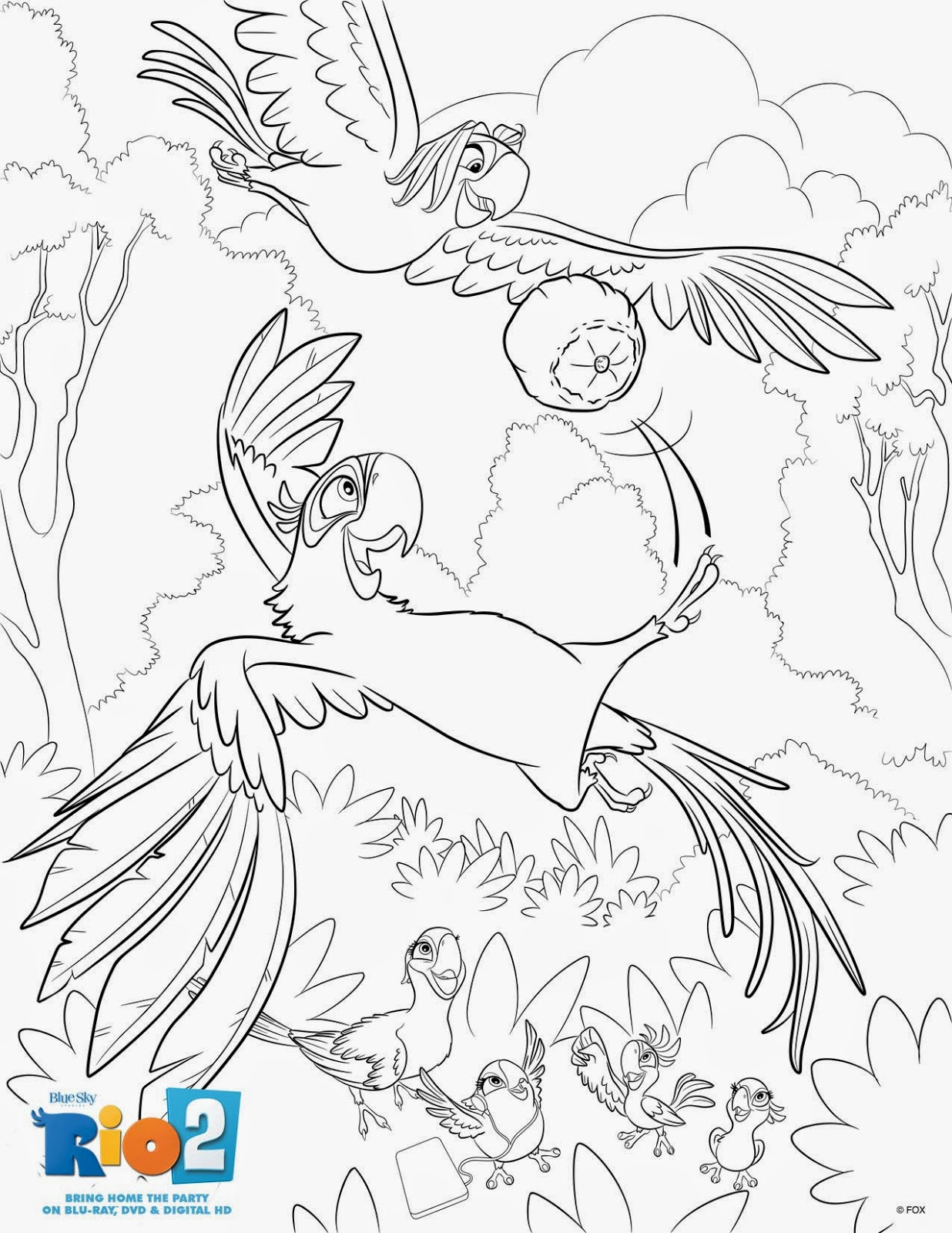 A GEEK DADDY: FREE RIO 2 COLORING PAGES & BLURAY/DVD