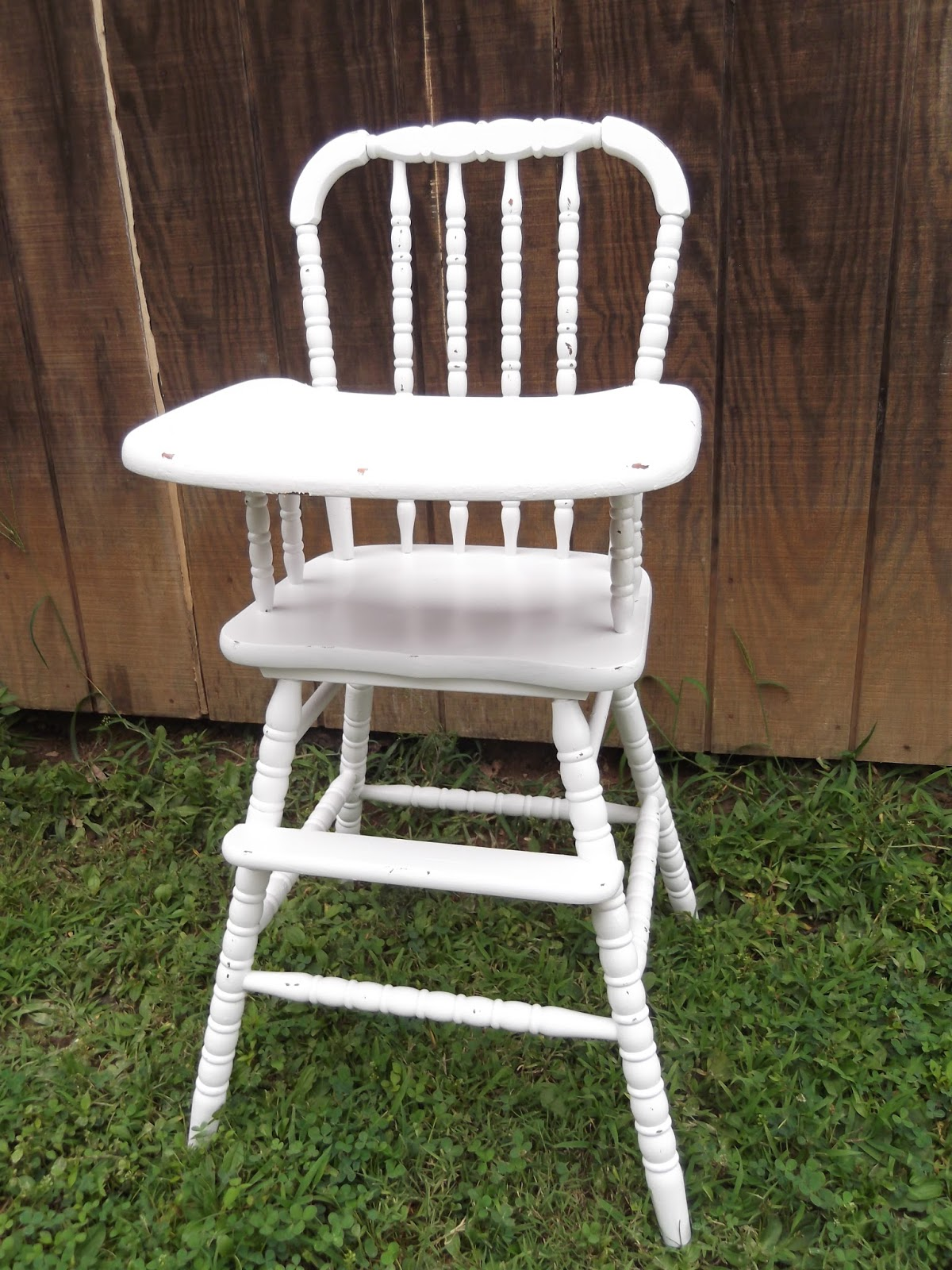 Chair Cover Rental Cost Feeding For Babies Thrifty 31 Blog Vintage Highchair Makeover