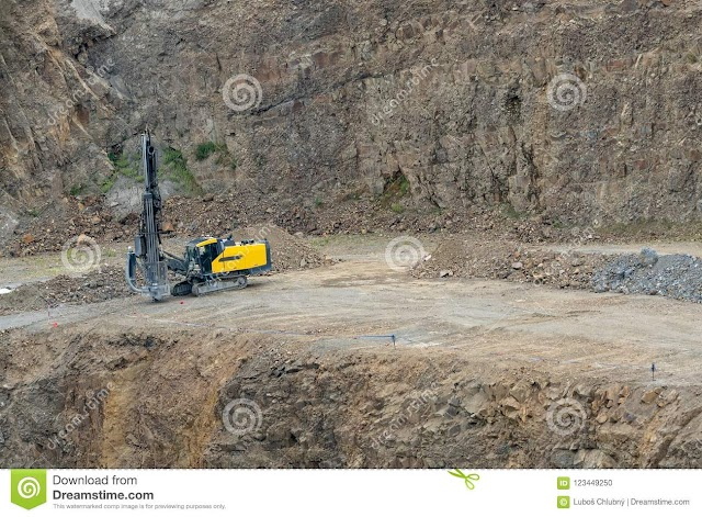 In open cast mine drill operations done in day hours or at night