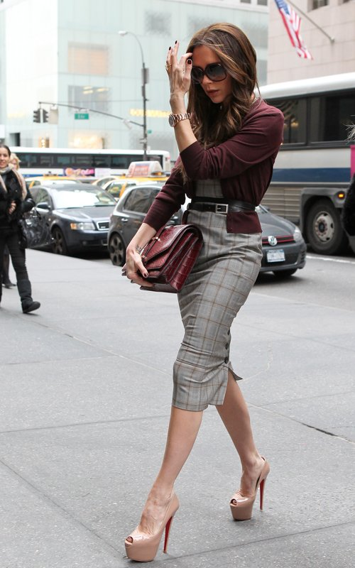 Victoria Beckham was spotted shopping in New York City on Valentine s Day.  The singer turned designer was carrying her own Burgundy Shiny Alligator  Satchel ... 79dfb9d6e58