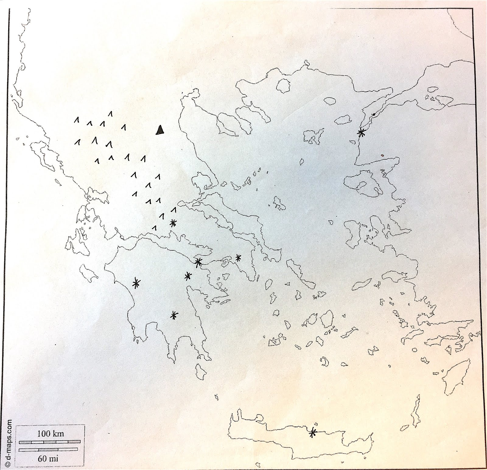 35 Blank Map Of Ancient Greece