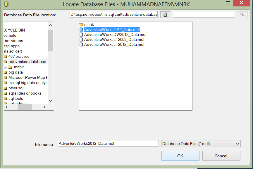 Free Download and Install MS SQL server 2012 Adventure works 2012