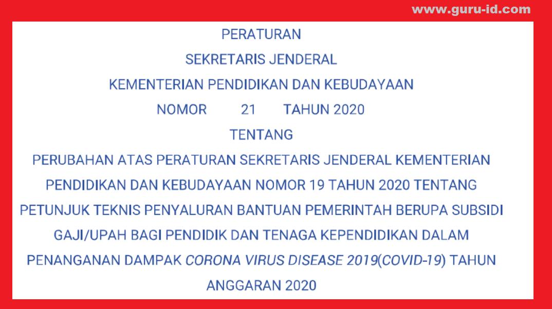 gambar persesjen kemdikbud nomor 21 tahun 2020