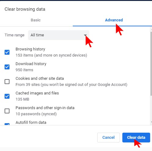 Google Chrome Browser Se Cookies ko kaise clean kare