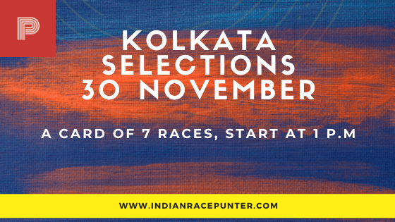 Kolkata Race Selections 30 November