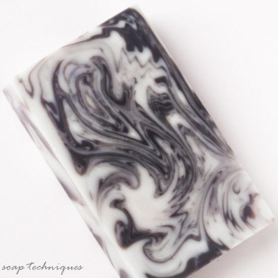 Winter Frosting - handmade soap, ITP swirl