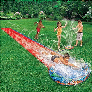 £9.99 children kids soak n splash 16′ aqua garden water slide spray sprinker pool toy