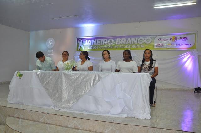 """Pedreiras inicia a campanha """"Janeiro Branco""""."""