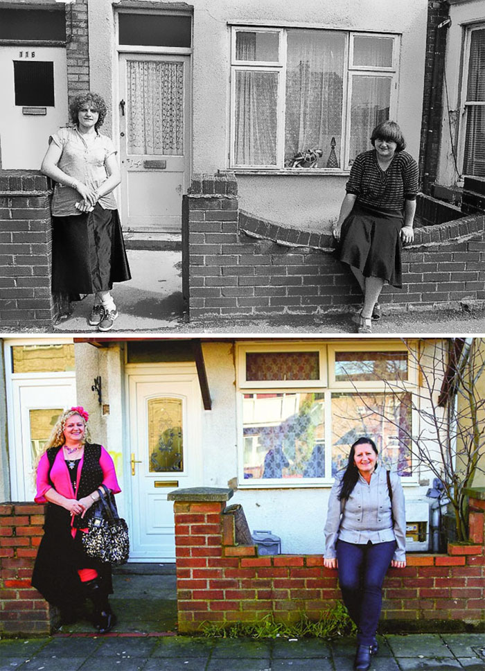 Photographer Recaptures Old Pictures Creating A Beautiful Reunion Of People He Photographed Decades Ago - Star Road (1982 And 2014)