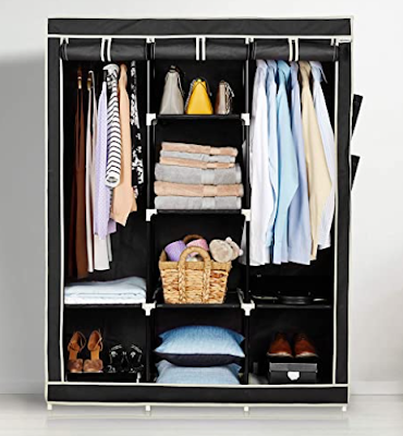 Amazon Brand - Solimo 3-Door Foldable Wardrobe for Space Optimized Storage With High Load Capacity