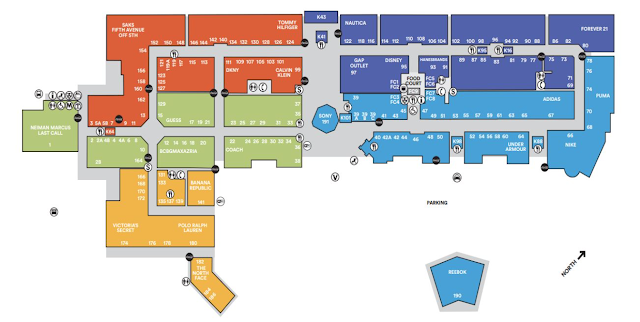 mapa lojas premium outlet international dr
