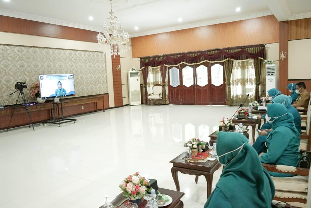 Pelantikan Pengurus Tim TP PKK Pusat Sisa Masa Bakti 2020-2024 Secara Virtual