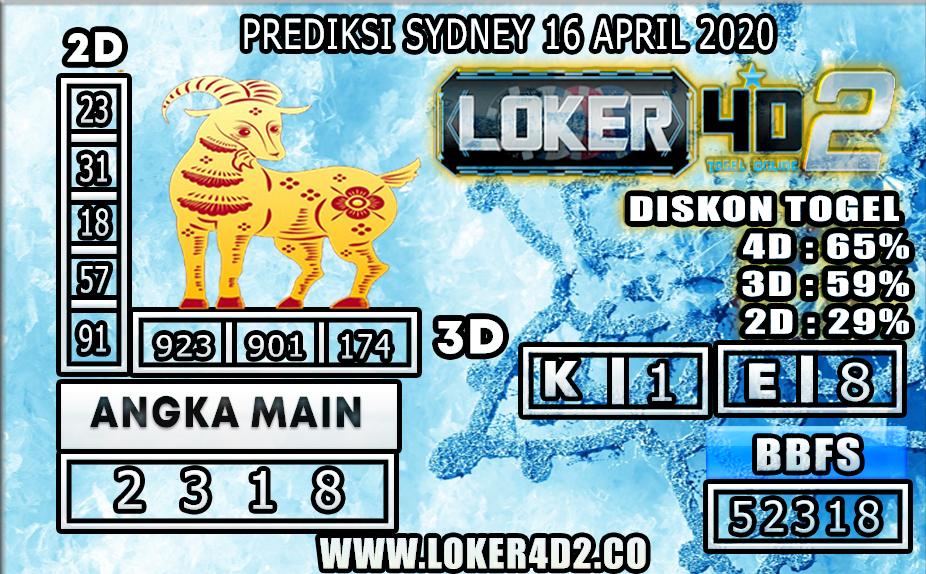 PREDIKSI TOGEL SYDNEY LOKER4D2 16 APRIL 2020