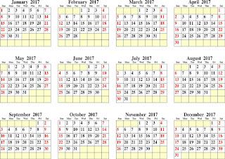 2017カレンダー無料テンプレート35