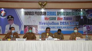 """Menuju TOP 45 Kompetensi Inovasi Pelayanan Publik 2020, Bupati Deliserdang Presentasikan """"DESA SATU""""."""