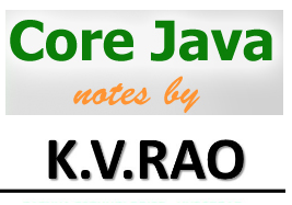 Download K V Rao Core Java Notes