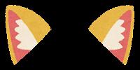 獣耳のイラスト(茶1)