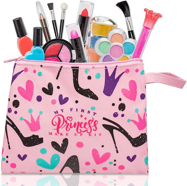 My First Princess Washable Make Up Set - 12 Pc Kids Makeup Set