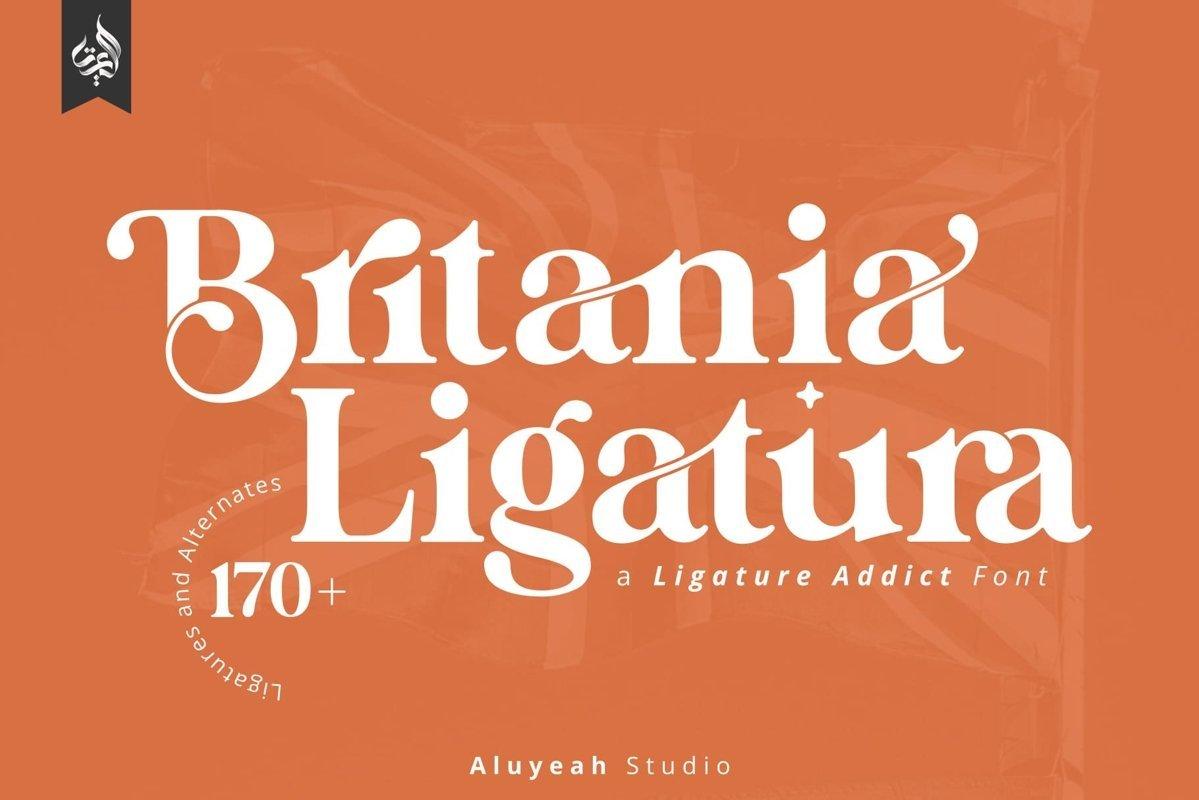 Britania Ligatura Font - Free Classic Serif Typeface