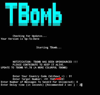 Unlimited SMS bombing Call bombing using termu0
