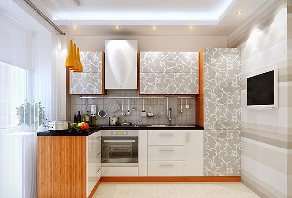 Dapur yang cerah mengkilap
