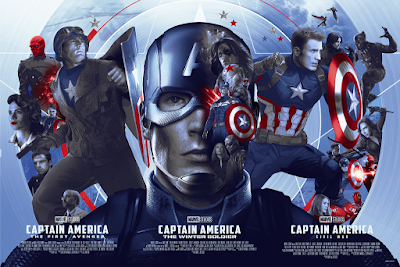 "Marvel Studios ""The Marvel Trinity"" Triptych Prints by Devin Schoeffler x Acme Archives x Bottleneck Gallery"